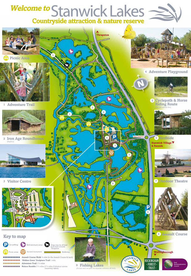 Stanwick Lakes Site Map